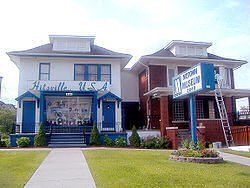 The Hitsville U.S.A. building, 2648 West Grand Boulevard, Detroit, Michigan, which was Motown records headquarters from 1959 until 1968.